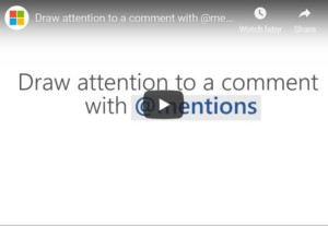 mentions in Office365